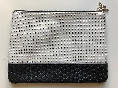 Sisley Black White Toiletries/ Make Up Cosmetic Bag Brand New
