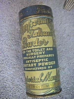 Early 1900s Imperial Talcum Powder Litho Tin Babies Unopened Sealed