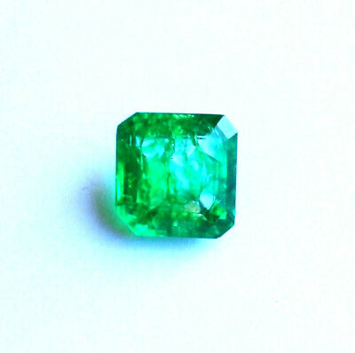 Emeraude Naturelle Verte de Colombie 6,67 ct avec Certificat d'Authenticité GGL