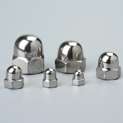 304 Stainless Steel Acorn Hex Cap Nuts Ball Cap Cover nut M3/M4/M5/M6/M8/M10 UK