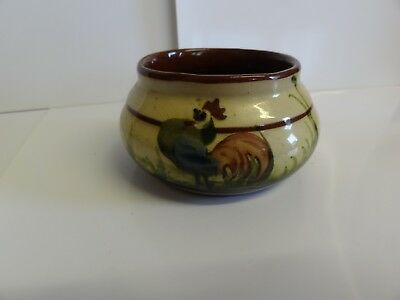 Longpark Tormohun Sugar Bowl, Torquay Good Condition Antique Devon Motto Ware