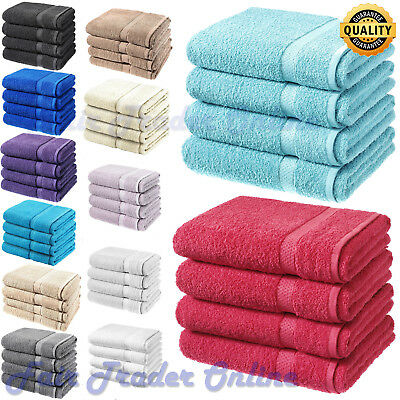 Pack of 1, 2 or 4 Luxurious Bath Sheets 100% Cotton Bathroom Shower Towel Sheets