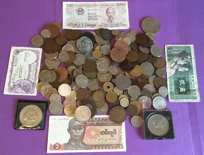 JOB LOT OF OLD WORLD COINS, BANKNOTES & CROWNS, 99p NO RESERVE, #5