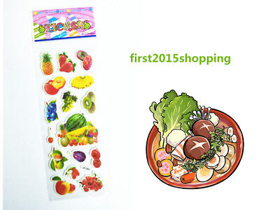 Cartoon Stickers Doll Craft 1pc Alive Fruit & Vegetable Kid Party Toy Gifts 2018