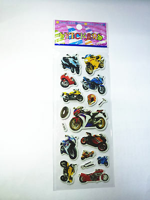 1PCS PVC Motorbike Stickers Kid Party Gift Toy Teacher Reward Gifts Handmade NEW