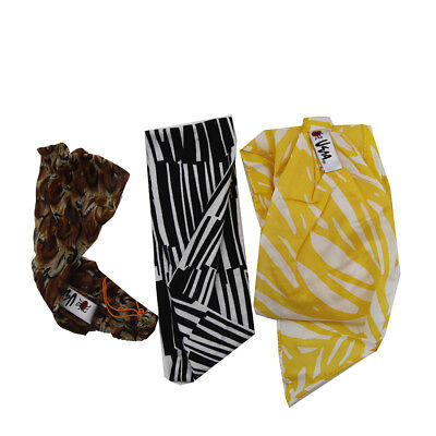 Collection Eighteen Ladies Headband Wraps Assorted Colors Scarf Head Scarves