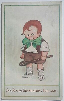 Vintage Political Ireland Irish, Boy Holding Shillelagh, Rising Generation 1907?