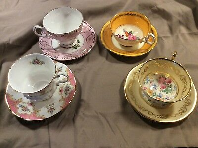 Lot of 4 Vintage Tea cup and Saucer Sets