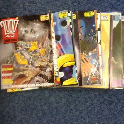 20 X Issues Of 2000AD Featuring Judge Dredd 1988-90