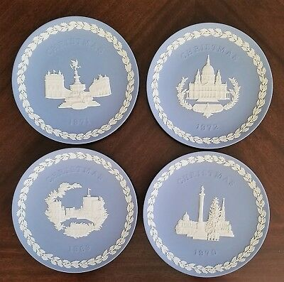 Lot of 4 Wedgwood Christmas Collector Plates In Original Boxes 1969, 70, 71, 72