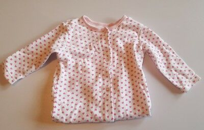 Baby girl 3-6 months babygrow George pink hearts