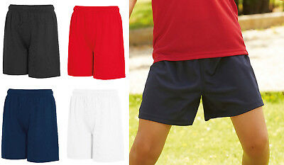 Kids Shorts Boys & Girls Fruit of the Loom School Performance PE Shorts SS020
