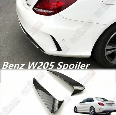 Carbon Fiber Style Canard/Air Vent Trim Cover For Benz C class W205 4-Door
