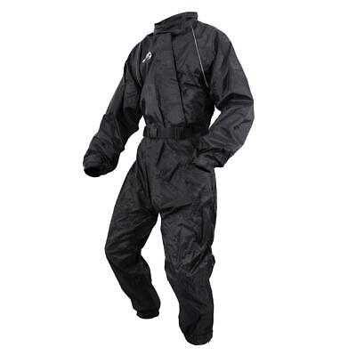 ARMR Moto Rainwear Black Motorbike Motorcycle Oversuit Waterproof Suit 1 Piece