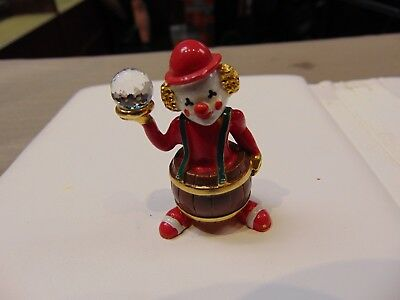 Spoontiques  Gold Pewter    Circus Barrel    Clown  With Crystal