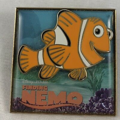 Finding Nemo Poster Disney Pixar 3D Pin Featuring Marlin