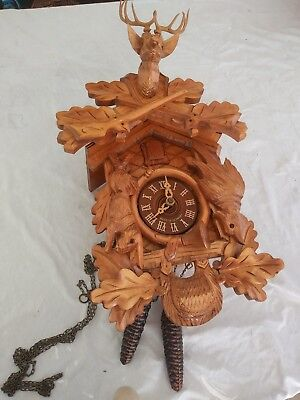 Authentic German Made COO COO CLOCK Hunters Theme