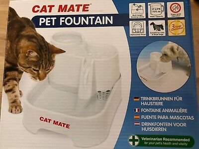 Pet Cat Mate Drinking Fountain C335 Water Bowl for Cats Kittens Small Dogs...