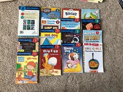 Lot Of 20 Learning To Read Books Disney, Dinosaurs, Flat Stanley, Biscuit