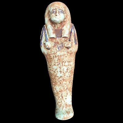 VERY LARGE EGYPTIAN HIEROGLYPHIC SHABTI,  664 - 332 BC 31cm High!!!! OVER 2KG