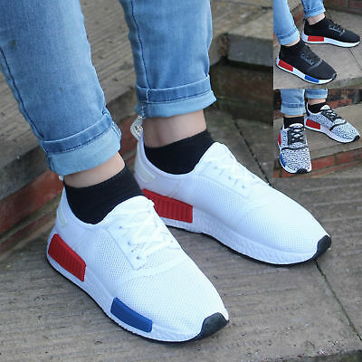 Mens Boys Running Shoes Sneakers Trainers Fitness Gym Sports Comfy Lace Up