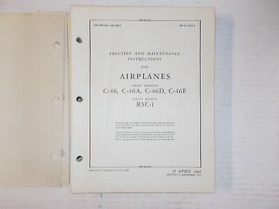 Curtiss C-46 Erection & Maintenance Instructions Army Air Corps