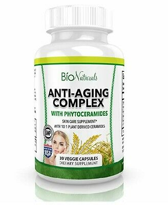 Advanced Anti Aging Complex with Phytoceramides - All Natural Plant Based Supple
