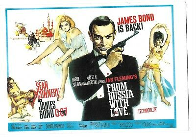 SEAN CONNERY is JAMES BOND in FROM RUSSIA WITH LOVE Post Card Ian Flemming