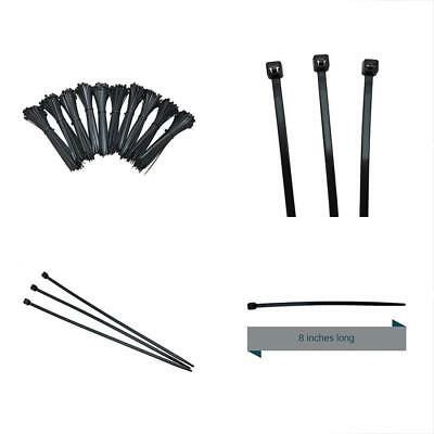 Cable Ties 8 Inch Zip 1000 Pack, Black Heavy Duty 75 Pound Tensile Strength With