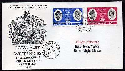British Virgin Islands - 1966 Royal Visit First Day Cover