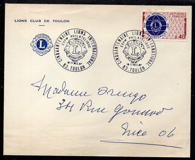 France - 1967 International Lions Club of Toulon 50th Anniversary Cover