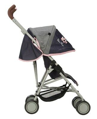 Silver Cross Pop Max Dolls Pushchair - Vintage Blue Fabric