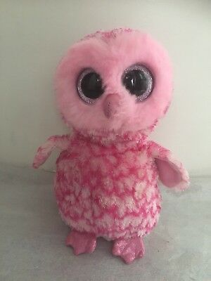 ed8bd611c9f TY BEANIE BOO 2015 PINKY Pink Supersoft Soft Toy Plush Owl 9 inch ...