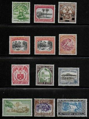 Western Samoa 1935 to 1962 12 Pictorial Stamps - MLH & Used