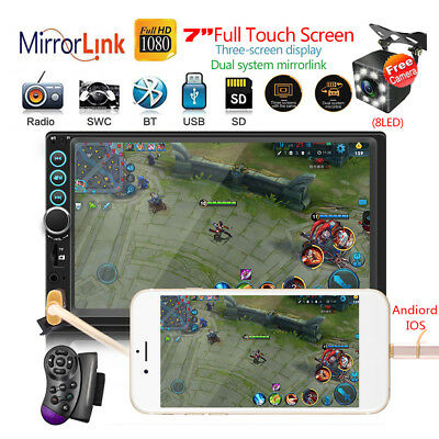 """SWM-S6 7"""" 2DIN IOS/Android Car Stereo MP3 MP5 Player FM AUX Mirror Link +Camera"""
