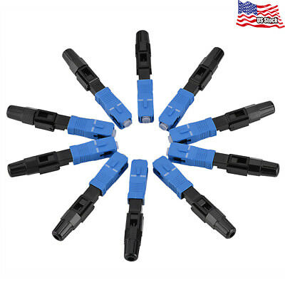 Fiber Optics Connector SC/UPC Fast Adapter Single Mode 10pcs/lot for FTTH/ODF US