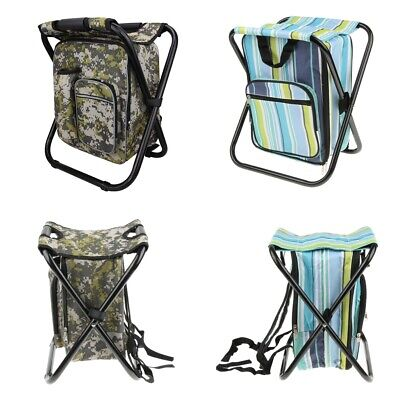 3 in 1 Fishing Hunting Insulated Backpack Rucksack Seat Chair Bag Camping Hiking