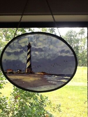 Lighthouse Stained Glass Sun Catcher Window/Wall Hanging