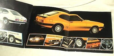 Ford Capri 3.0S   Sales Brochure.  Ford, Brentwood 1978.