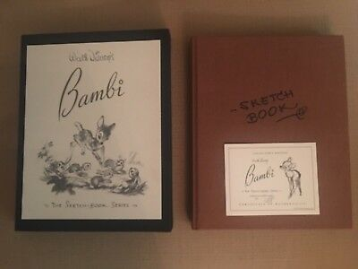 Disney limited BAMBI Sketch book Series wonderful complete condition 1188/3000