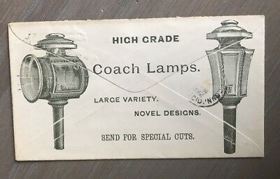 1892 2 Sided Advertising Cover C. Cowles  & Co. New Haven CT Coach Lamps