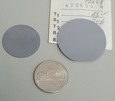Two Historic Silicon Wafers 1950s - early 1960s : 0.95 inch and 1.25 inch