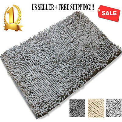 Non Slip Bath Mat Microfiber Rugs Bathroom Bedroom Shower Carpet Rug