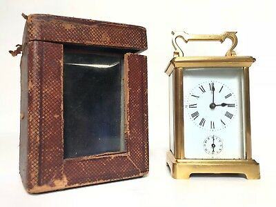 Swiss Made Brass Carriage Clock & Travel Case - Alarm Repeater SPARES / REPAIR