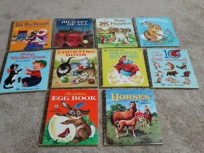 Lot of 10 Vintage A Little Golden Book 1973 - 1976 New Mint Condition 400 Series