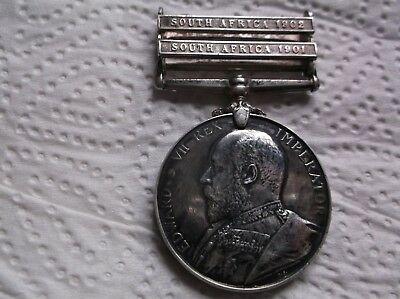 Kings South Africa Medal 2 Bars To 3439 Pte. R.crow. Norfolk Regt.