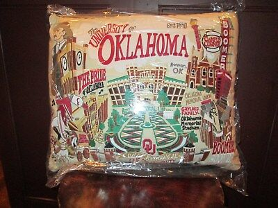 Catstudio Pillow OU University of Oklahoma Embroidered 16 by 20 NWT