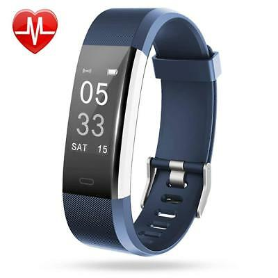 Lintelek Fitness Tracker, Heart Rate Monitor Activity Tracker With Connected Gps