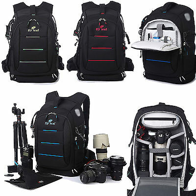 DSLR SLR Professional Camera Bag Padded Case Cover Travel Bag Backpack Rucksack