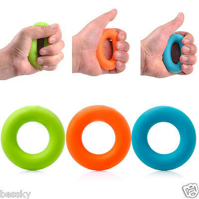 Strength Finger Hand Grip Muscle Power Training Rubber Ring Exerciser Silicone L